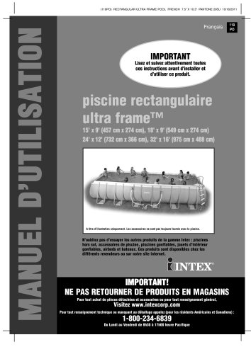 Charmant Piscine Rectangulaire Ultra Frame™