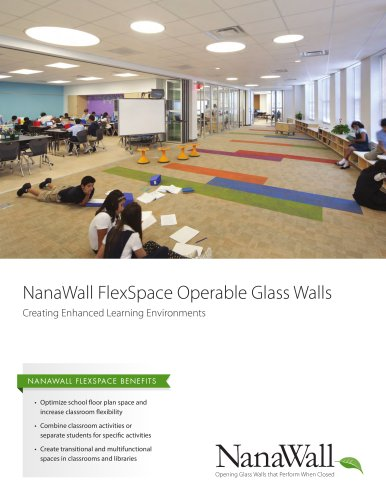 NanaWall FlexSpace Operable Glass Walls
