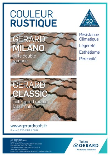 Les Tuiles Gerard Couleur Rustique Ahi Roofing France Catalogue