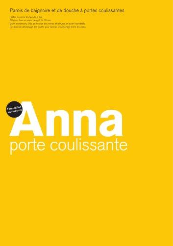 Anna Coulissante,Parois de baignoire et de douche à portes coulissantes