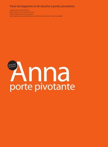 Anna Pivotante,Paroi de baignoire et de douche à portes pivotantes