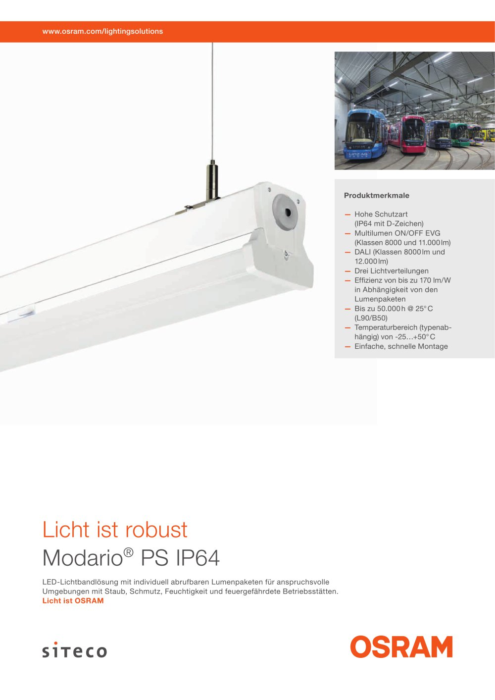 Modario Ps Ip64 Multilumen Siteco Catalogue Pdf