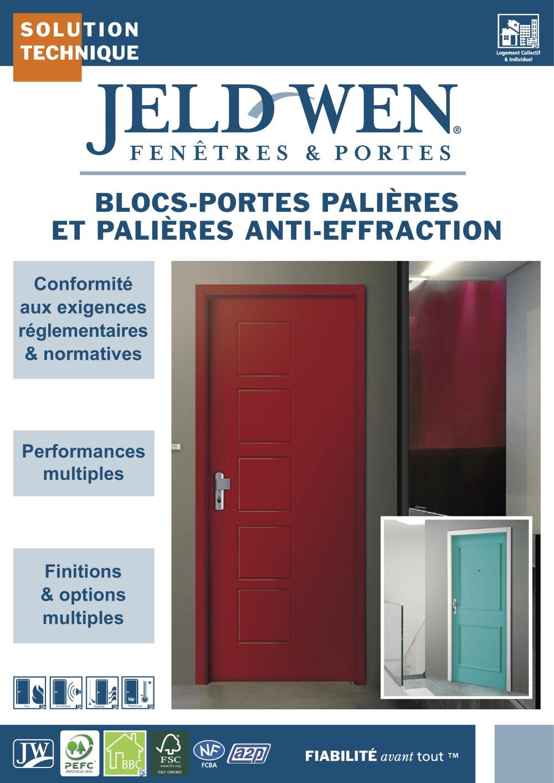 BLOCSPORTES PALIÈRES ET PALIÈRES ANTIEFFRACTION JELDWEN France - Portes palières
