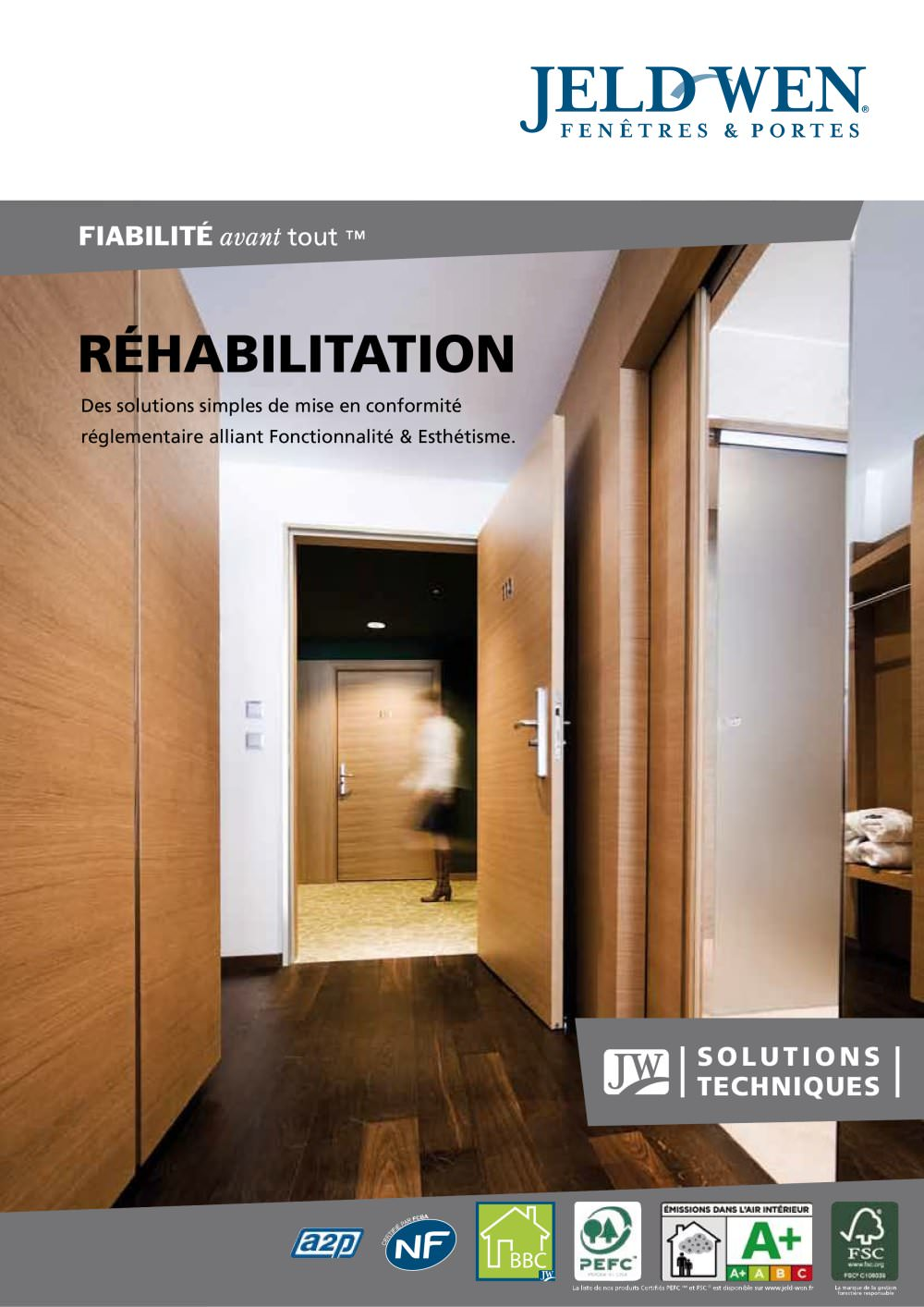 Portes De Réhabilitation JELDWEN France Catalogue PDF - Porte paliere renovation