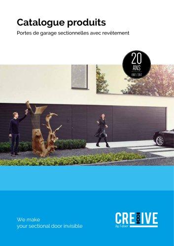 Catalogue produits Portes de garage sectionnelles avec revêtement
