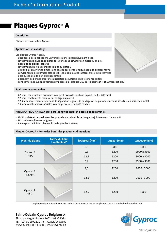 Plaques Gyproc A British Gypsum Limited Catalogue Pdf