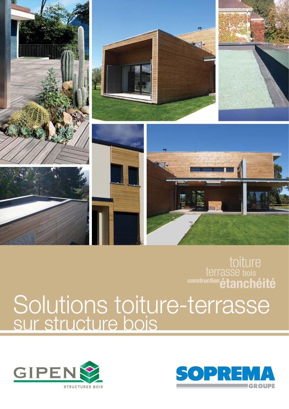 Solutions Toiture Terrasse Sur Structure Bois Gipen Catalogue