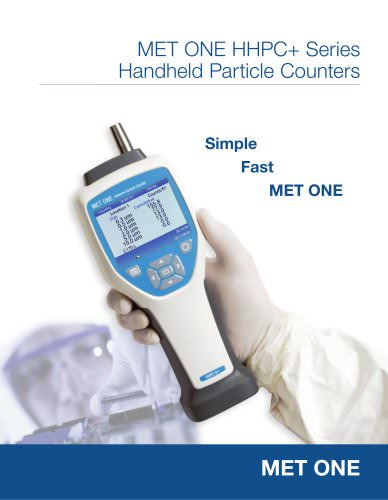 MET ONE HHPC+ Series Handheld Particle Counters
