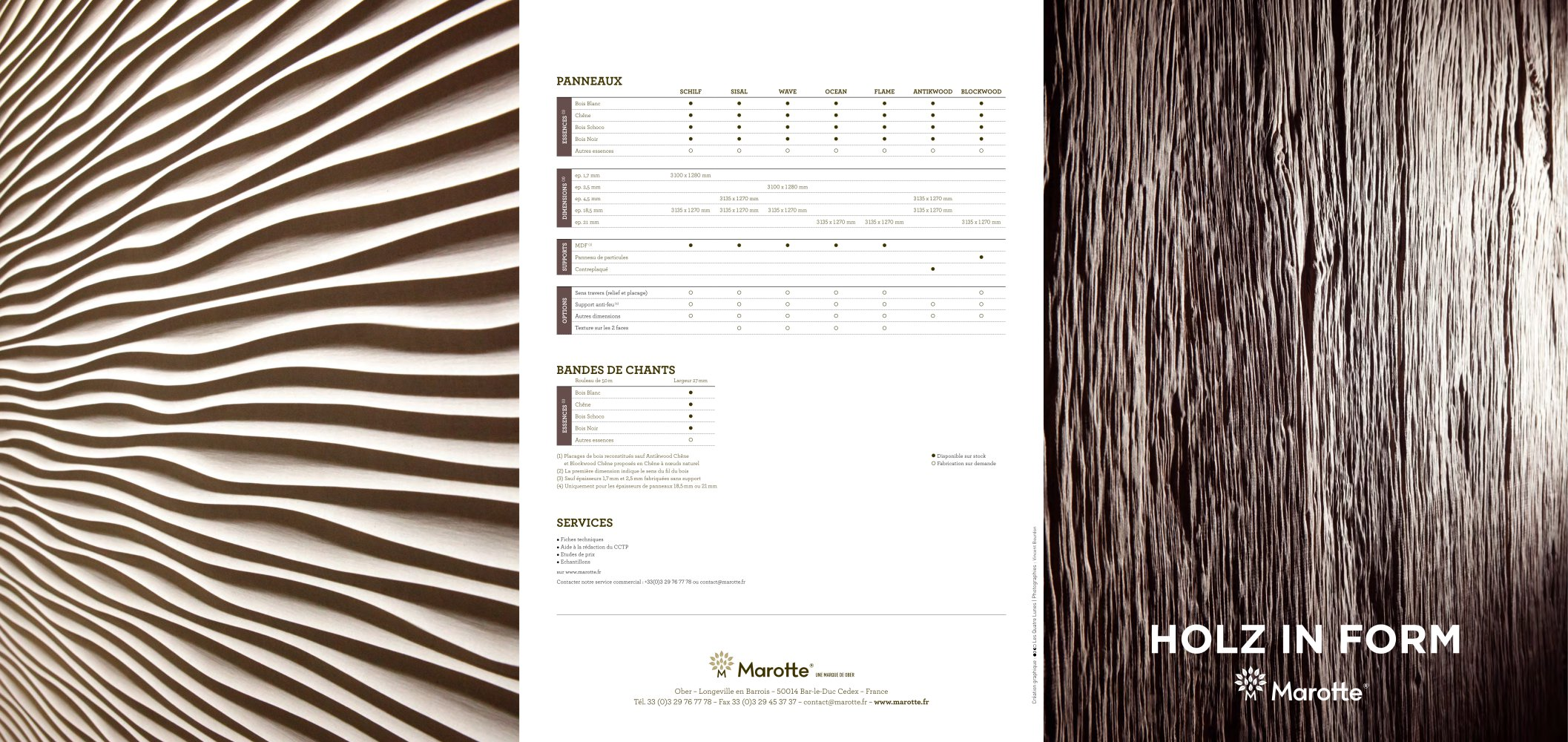 holz in form - marotte - catalogue pdf | documentation | brochure