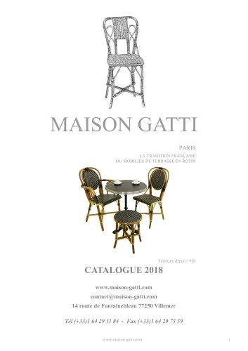 CATALOGUE 2018 - Maison Gatti - Catalogue PDF | Documentation | Brochure