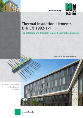 ISOPRO® CONCRETE-CONCRETE THERMAL INSULATION ELEMENTS