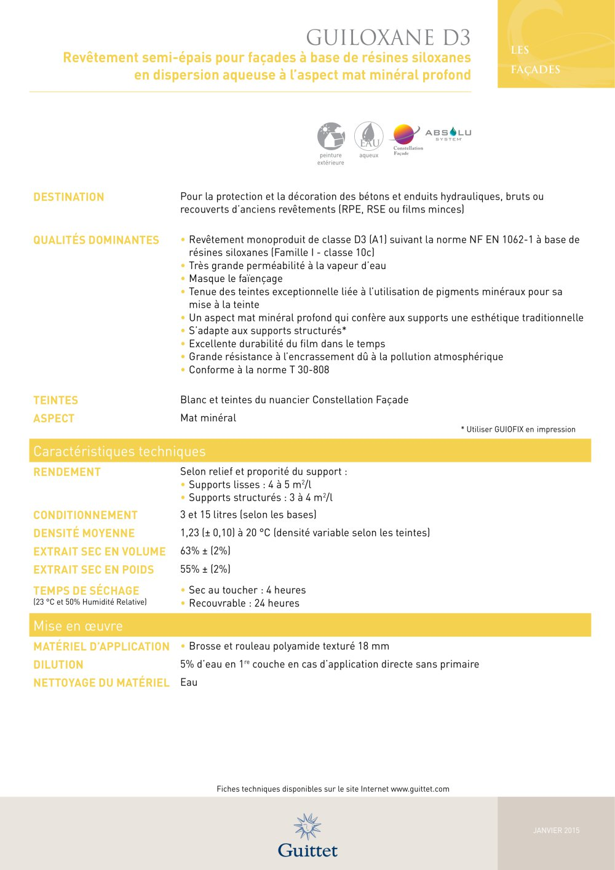 Guiloxane D3 Guittet Catalogue Pdf Documentation Brochure