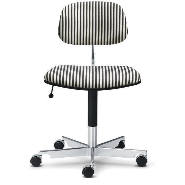 ENGELBRECHTS: chaise visiteur contemporaine / tapissée / à roulettes / piètement étoile