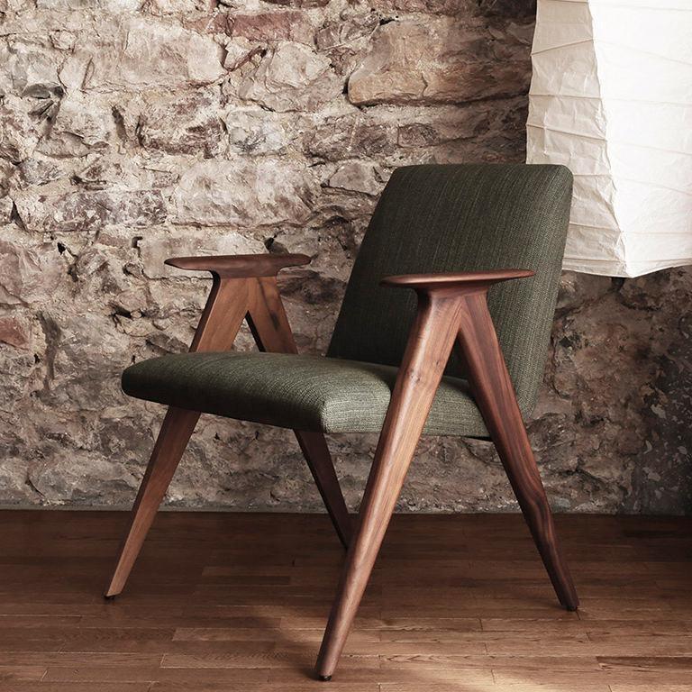 STUA: Fauteuil contemporain / en cuir / en bois / en tissu