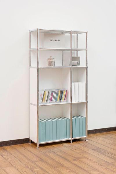 SYSTEM4: étagère contemporaine / en métal / professionnelle / pour bureau