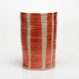 tabouret contemporain / en porcelaine / fait main / d'extérieur