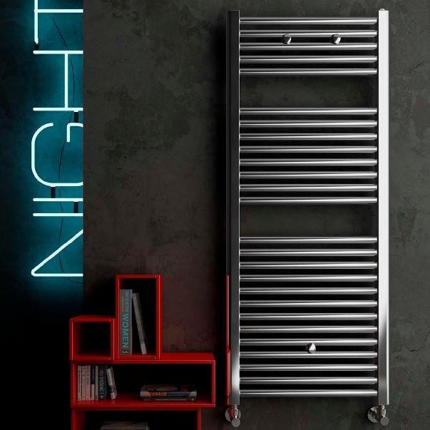 sèche-serviettes à eau chaude / en métal / contemporain / rectangulaire