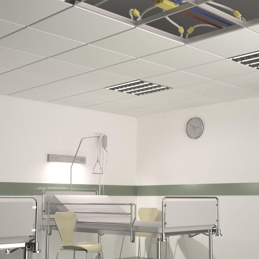 Plaque de plâtre isolante rigide / rectangulaire / pour plafond ...