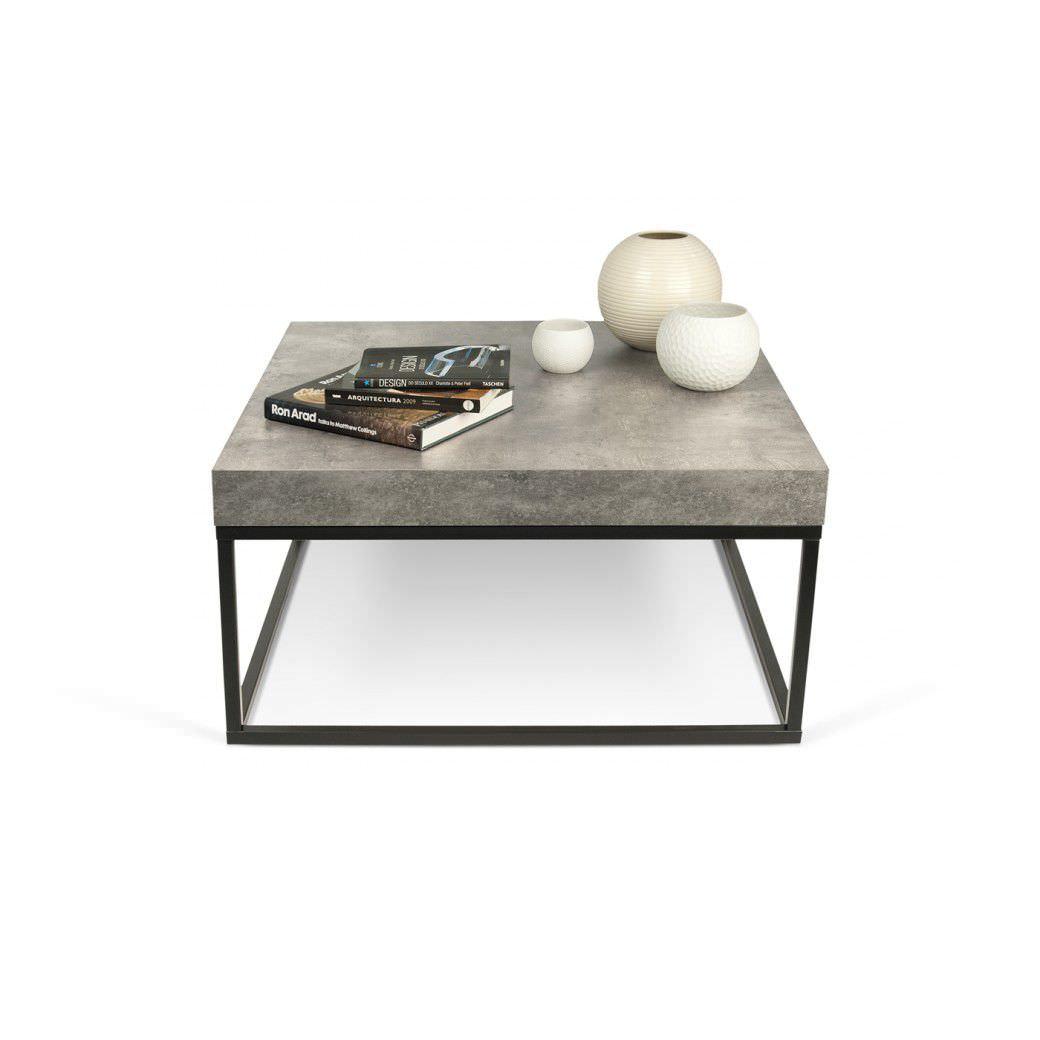 béton en métal mélaminé contemporaine table en en basse OX0kN8Pnw