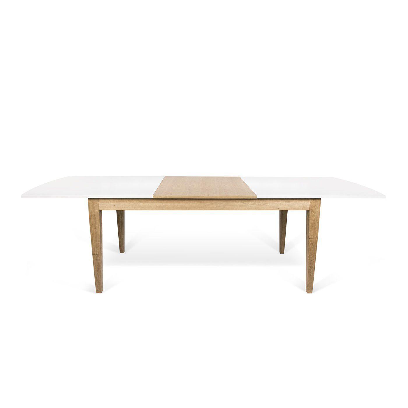 à en rectangulaire rallonge contemporaine table à manger chêne rdeWQBoCx