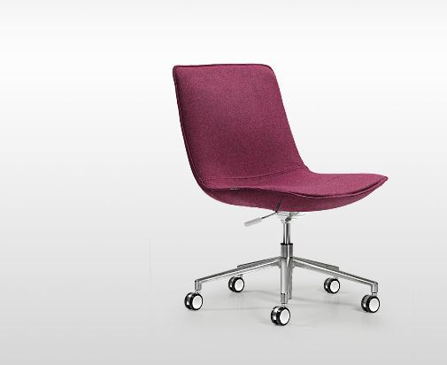 à piètement contemporaine roulettes Chaise de bureau GMSzqVpU