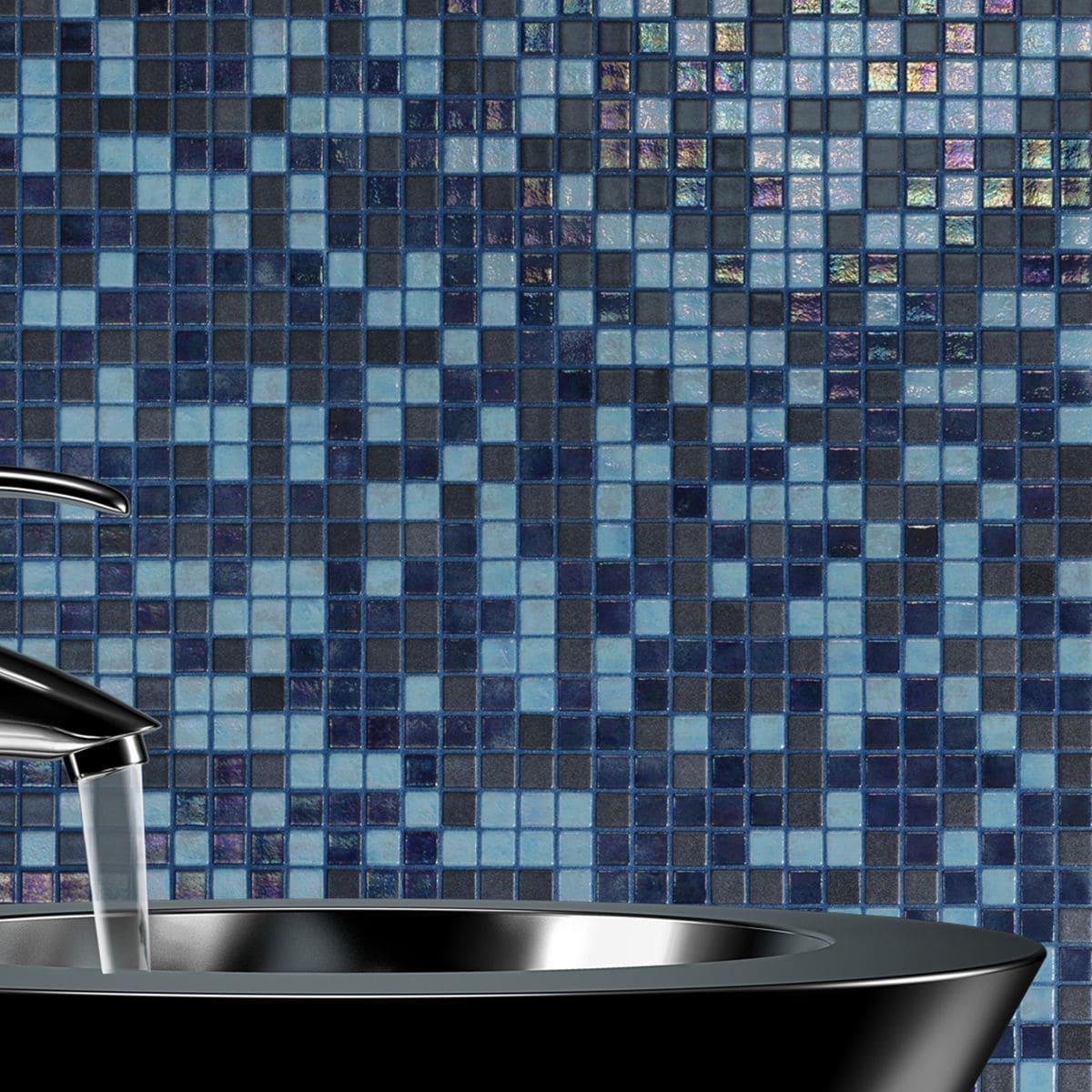 Mosaique De Salle De Bain Blue Lagoon Ezarri Pour Sauna De