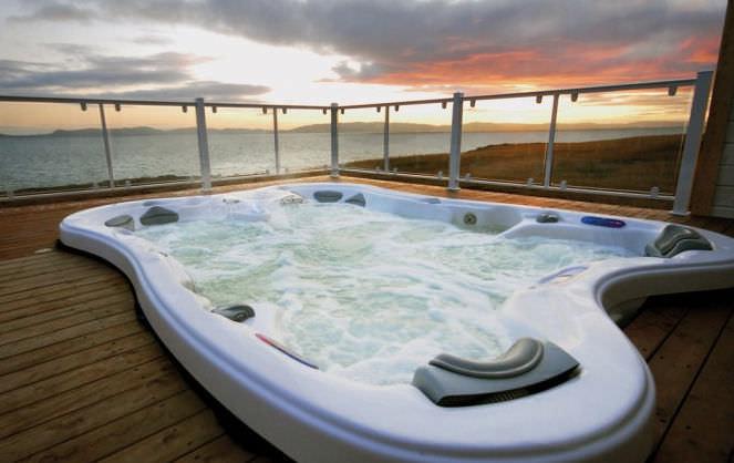 Jacuzzi Grande Taille.Spa Encastrable Rectangulaire 7 Places Sarena Bay