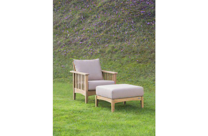 Fauteuil contemporain / en teck / de jardin - GOA - Tectona