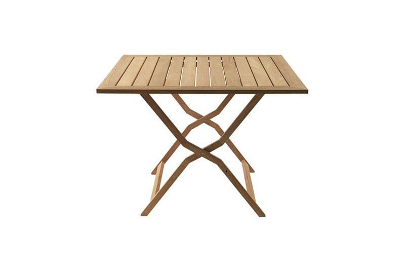 Table contemporaine / en teck / carrée / de jardin ...