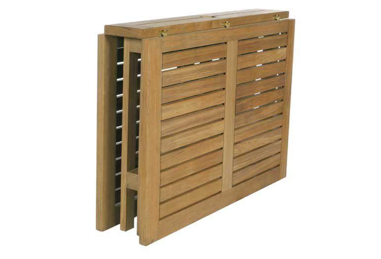 Table contemporaine / en teck / rectangulaire / de jardin - GATELEG ...