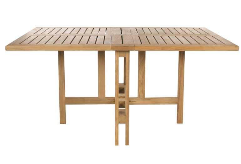 Table contemporaine / en teck / rectangulaire / de jardin ...