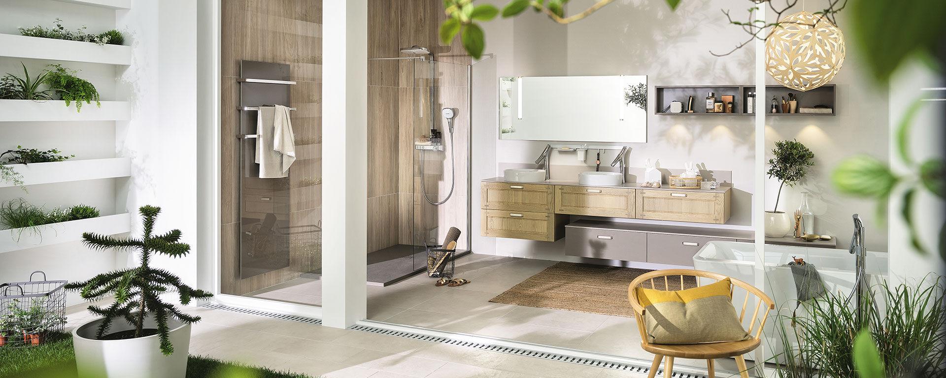 Salle de bain contemporaine - AMBIANCE VÉGÉTALE - Mobalpa - en
