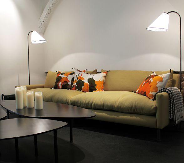 meilleur service 3a97b 20c15 canapé contemporain / en tissu / 3 places / déhoussable