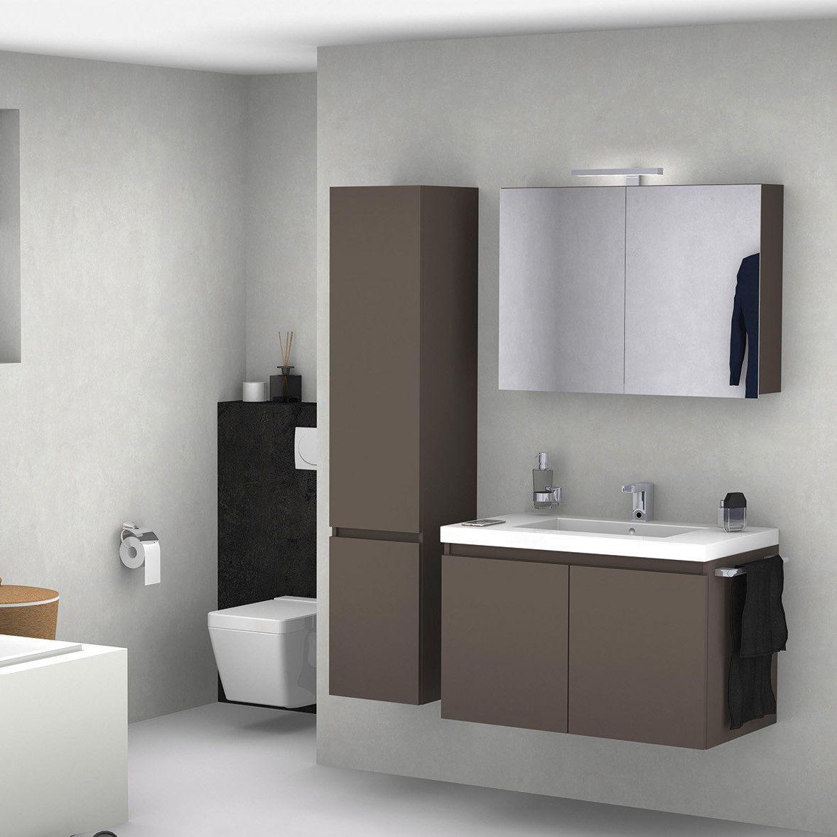 Espace Entre 2 Vasques meuble vasque suspendu / en bois / contemporain / avec