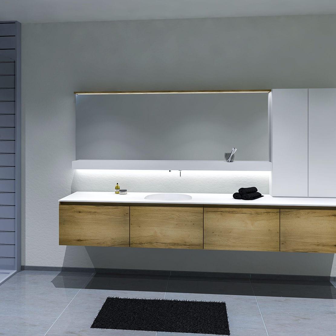 Salle De Bain Avec Bois meuble de salle de bain contemporain / en bois / mural