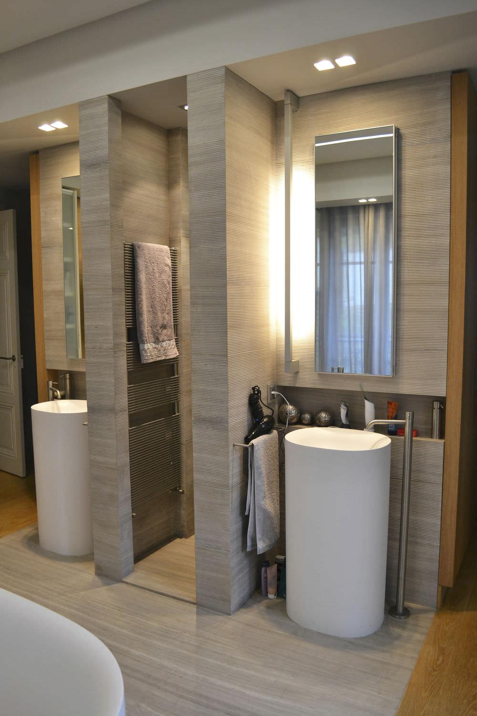 Pierre Naturelle Salle De Bain salle de bain contemporaine / en pierre naturelle