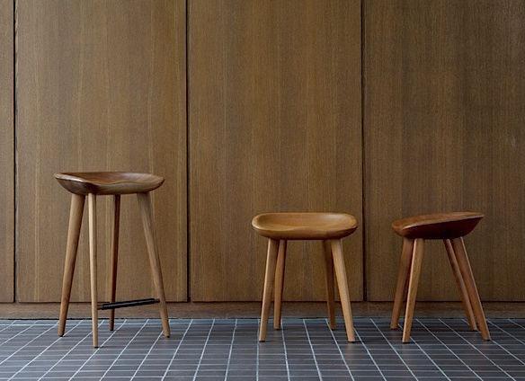Tabouret De Bar Design Scandinave En Bois Contract D Exterieur