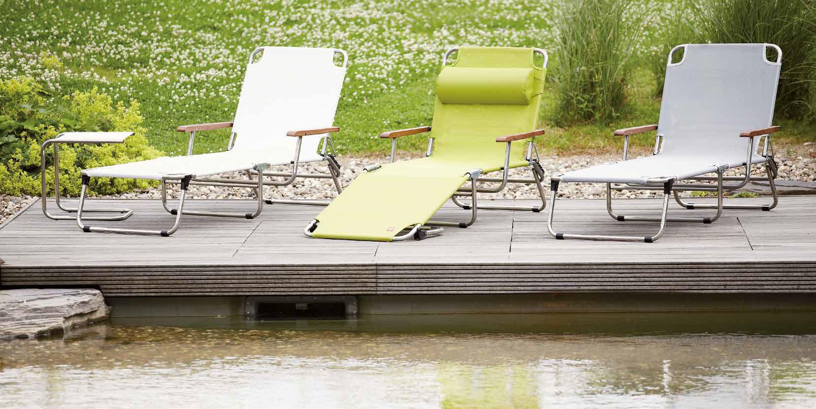 bain de soleil contemporain / en tissu / en aluminium / de jardin