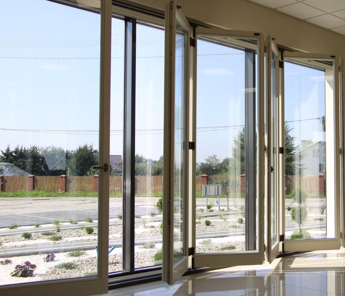 Baie Vitrée Pliante En Accordéon Prix baie vitrée coulissante-empilable / pliante / en aluminium