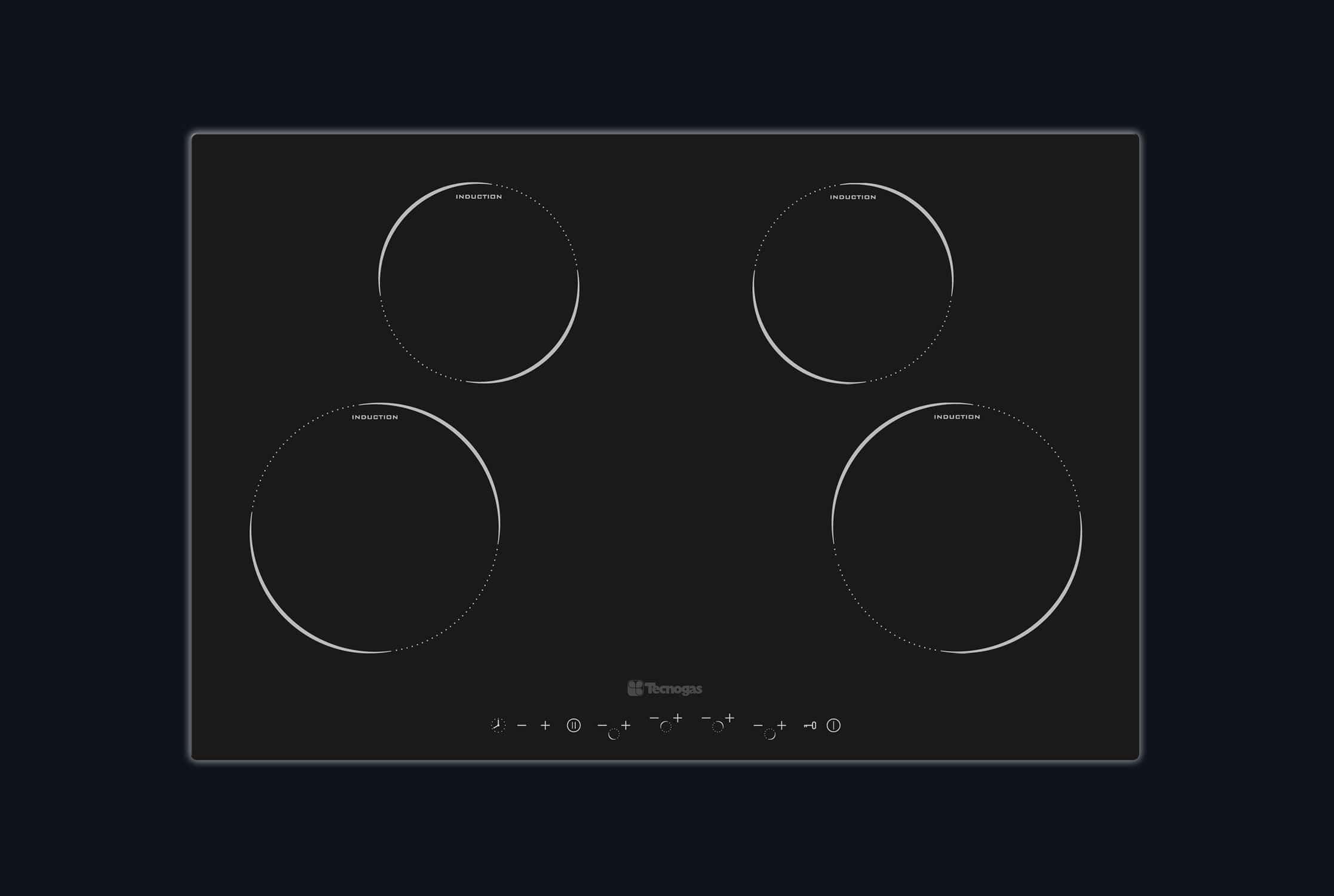 Comparatif Plaque Mixte Induction Gaz table de cuisson à induction / 4 foyers - 75 next - tecno spa