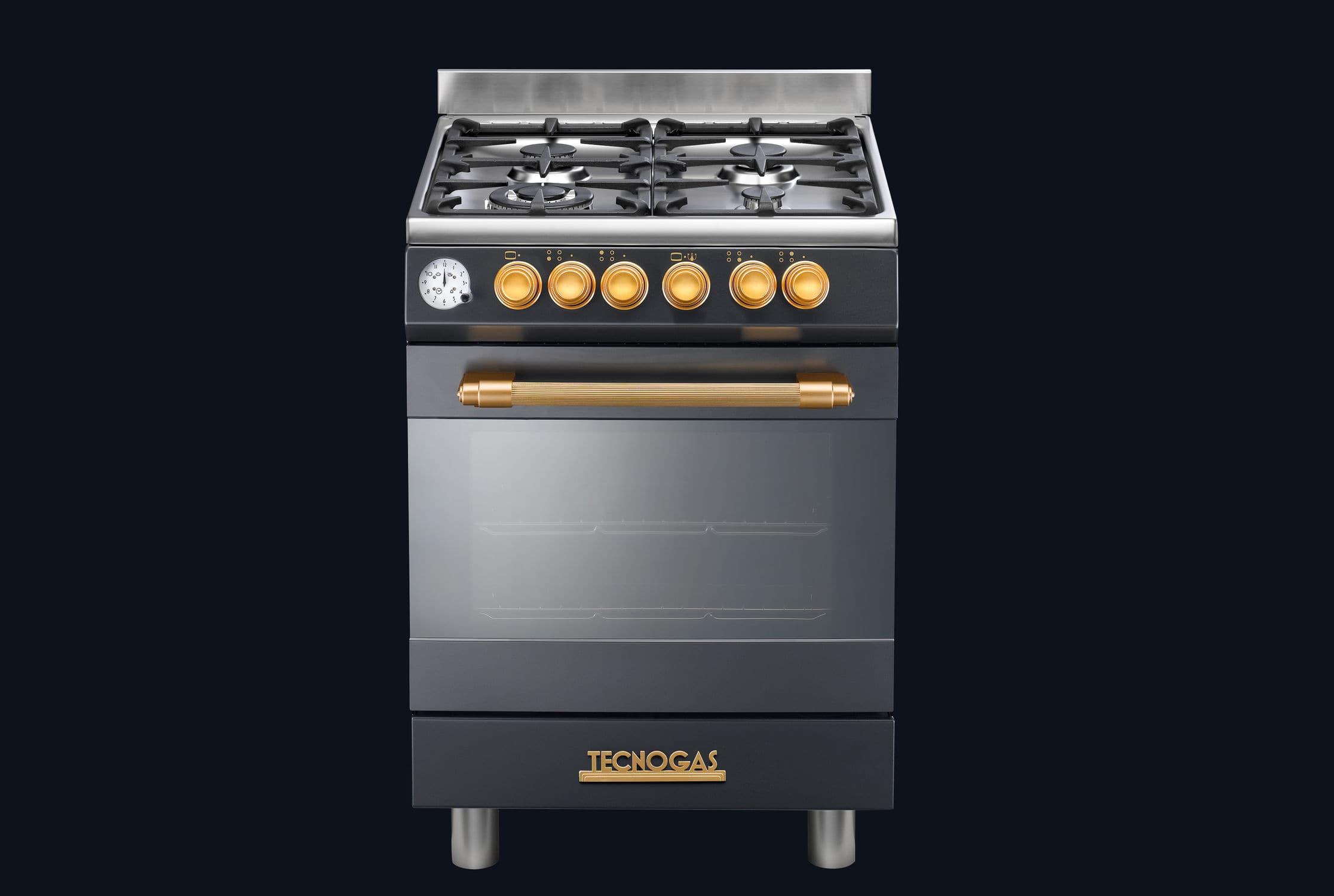 Piano De Cuisson Largeur 60 Cm cuisinière à gaz / électrique / wok / en fonte - 60 deco l2