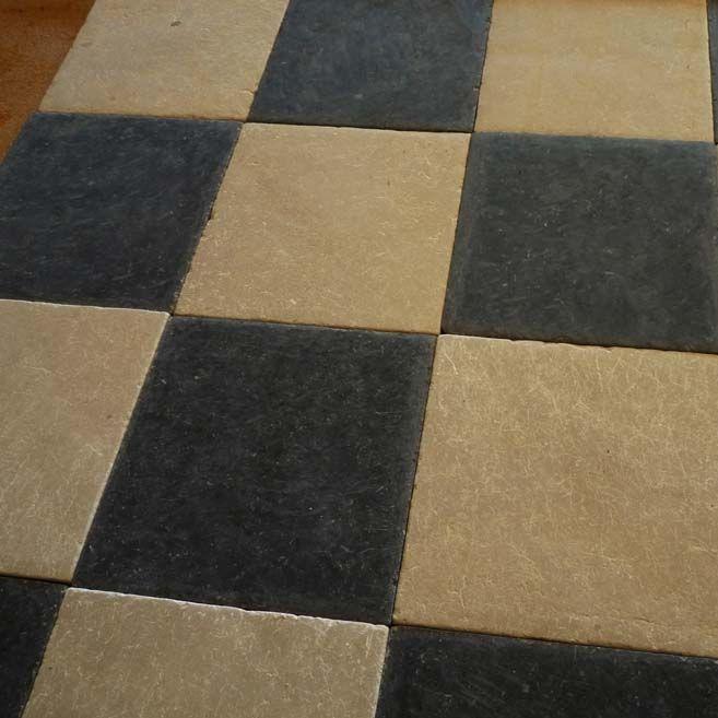 Carrelage d\'intérieur / de sol / en ciment / uni - BLACK ...