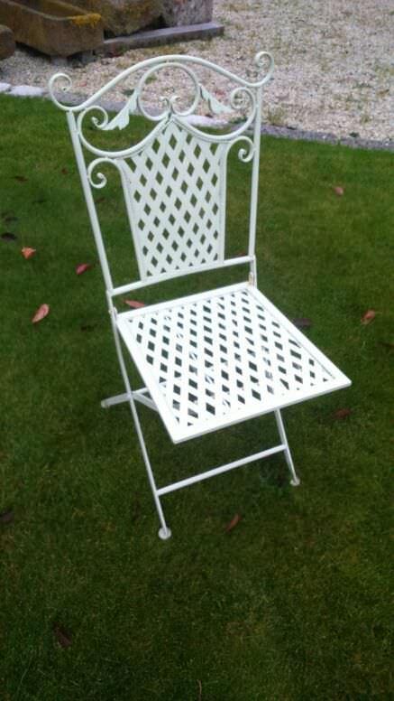 Chaise de jardin classique / pliante / en fer forgé - bca ...