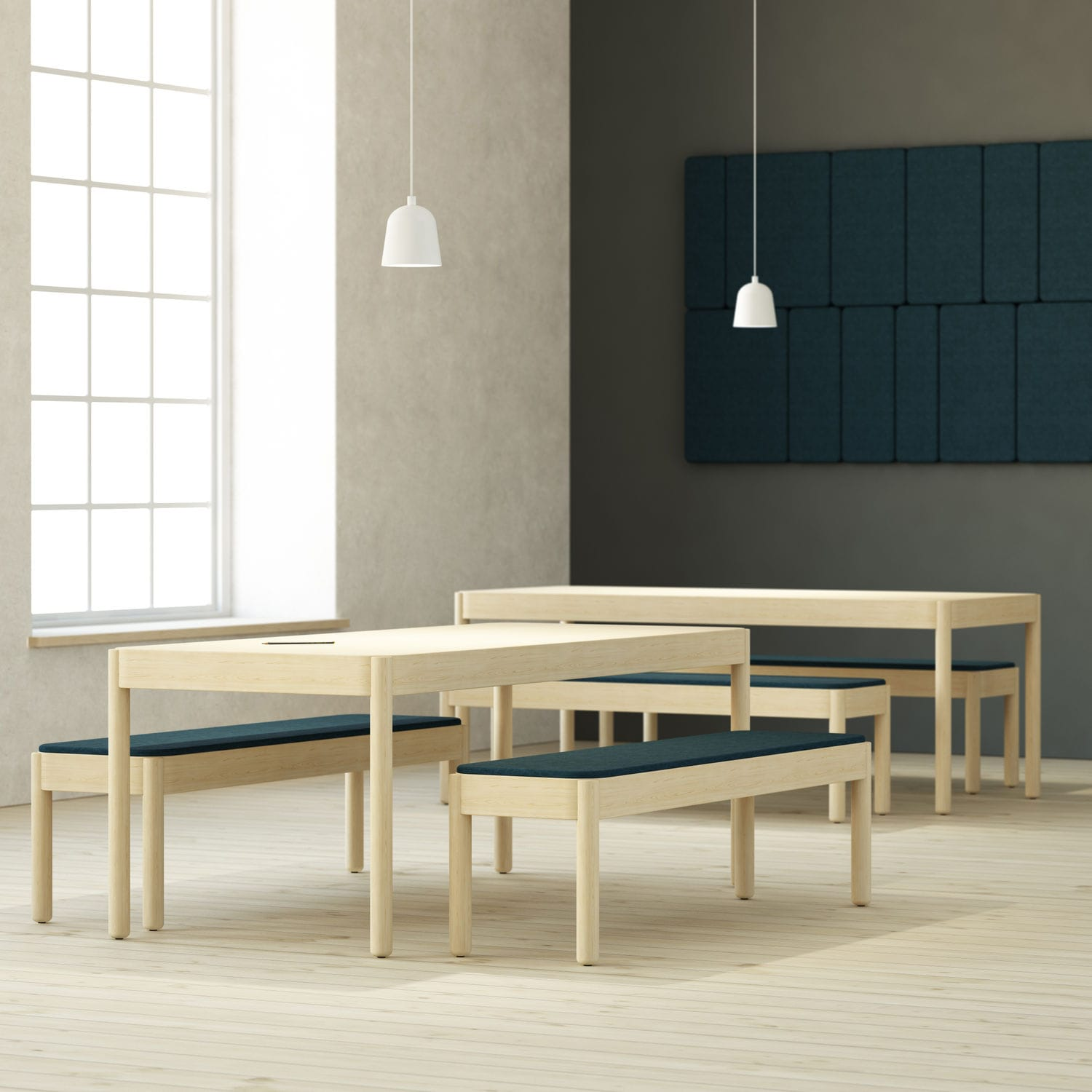 Table Banc Bois Interieur ensemble table et bancs contemporain / en bois / mdf / d