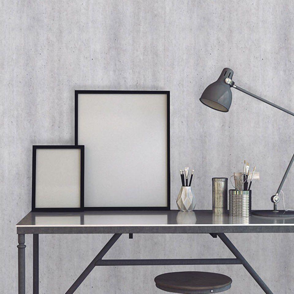 Papier Peint Capitonné Gris papier peint de style industriel / en vinyle / panoramique
