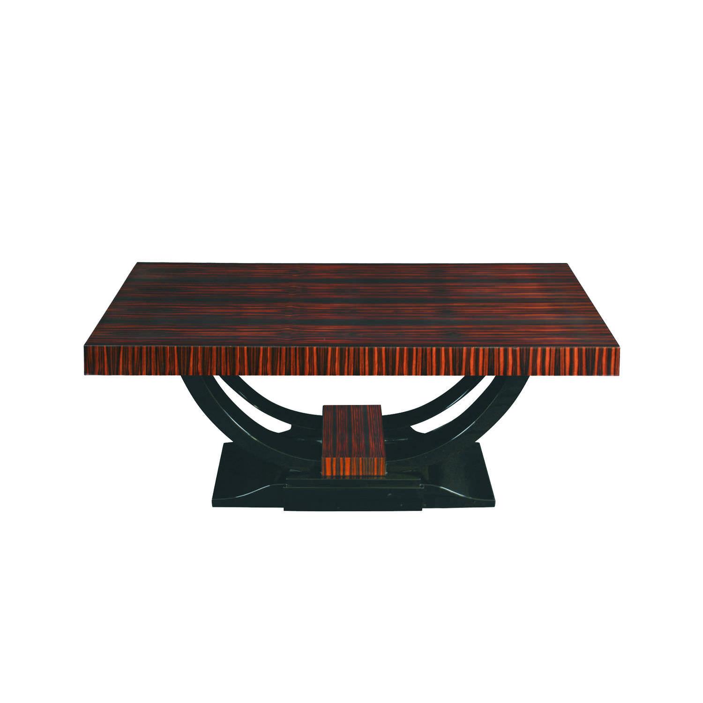 Table Basse Ronde Art Deco table basse art déco / en ébène de macassar / en bois vernis