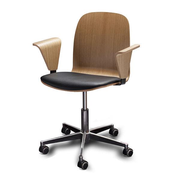 Chaise de bureau design scandinave avec accoudoirs
