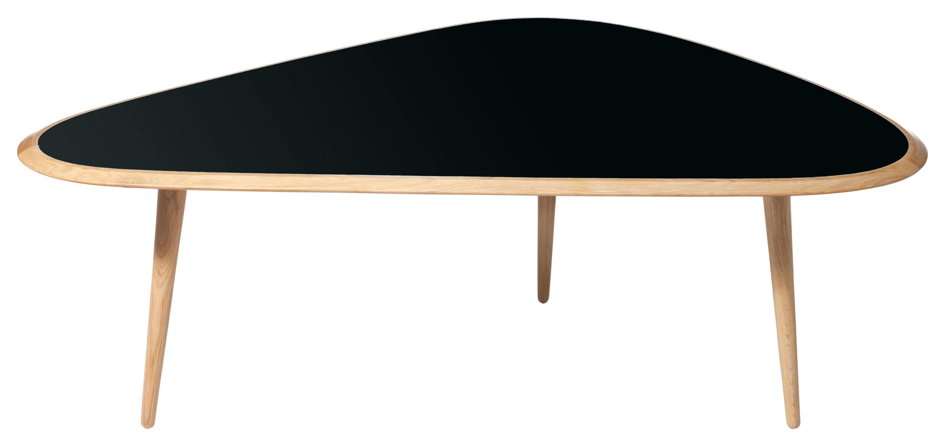 Table Basse Design Scandinave En Chene En Bois Laque Triangulaire