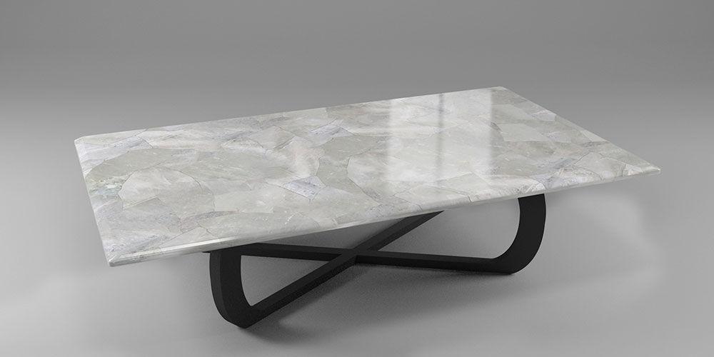 Table Basse Contemporaine En Marbre En Pierre Naturelle