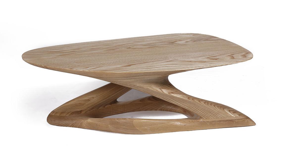 Massif Bois Organique Basse En Design Frêne Table Plie 4Ljc5qAR3S